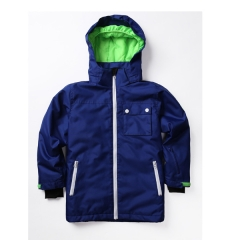 Boys polyester padding hooded jacket